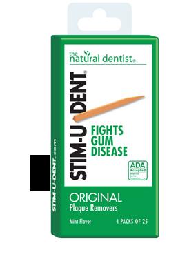 una imagen del dentista natural estimulante para eliminar la placa que ayuda a mejorar las encías hinchadas y sangrantes mejor que cepillarse los dientes o usar hilo dental