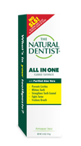 a box of the natural dentist all-in-one anticavity toothpaste with aloe vera
