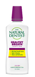 a picture of the natural dentist healthy breath antiseptic mouth rinse that kills bad breath germs fights infection and cleans and refreshes