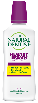 aloe based natural dentist healthy breath antiseptic rinse mouthwash callout image