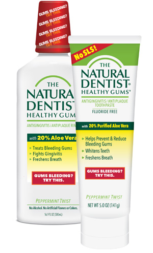 aloe based natural dentist healthy gums antigingivitis antiplaque toothpaste and mouth wash callout image