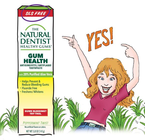 The Natural Dentist Healthy Gums Antigingivitis Toothpaste graphic