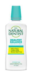una imagen del dentista natural Healthy Balance Enjuague bucal para todo uso que reduce la placa, refresca el aliento y humedece el tejido bucal