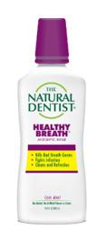 una imagen del dentista natural aliento saludable enjuague bucal antiséptico que mata los gérmenes del mal aliento combate las infecciones y limpia y refresca