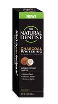 una imagen del dentista natural pasta de dientes blanqueadora de carbón sin flúor en cocomint que blanquea los dientes, refresca el aliento y elimina las manchas