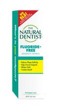 una imagen de la pasta de dientes natural sin flúor para dentistas que ayuda a prevenir la gingivitis, blanquea los dientes y refresca el aliento