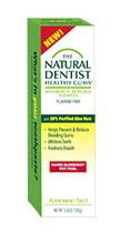 dentista natural a base de aloe encías sanas sin flúor antigingivitis antiplaca imagen de pasta de dientes